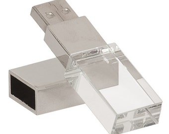 Glass USB Flash Drive you can personalize