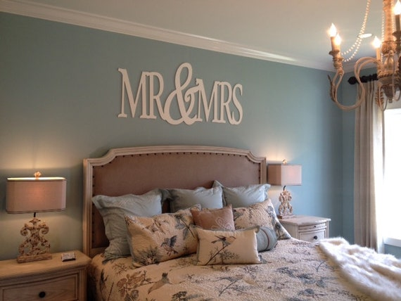 Large Mr&Mrs Bedroom Decor / Wall Hanging