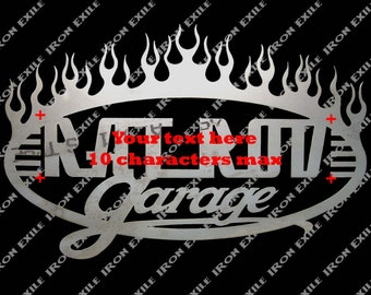 Custom Garage Sign With Your Text Plasma Cut Gift Idea