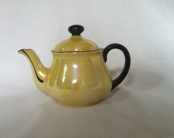 Vintage Porcelain, Lusterware Teapot, Made in Slovakia