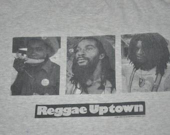 Vintage 90s Reggae Uptown Rasta Rastaman T-Shirt