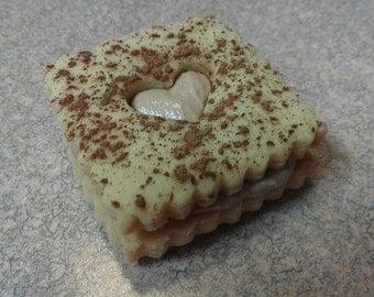 Heart cut out sandwich cookie , Wedding favor , Valentine's Day favor 1/2 dozen