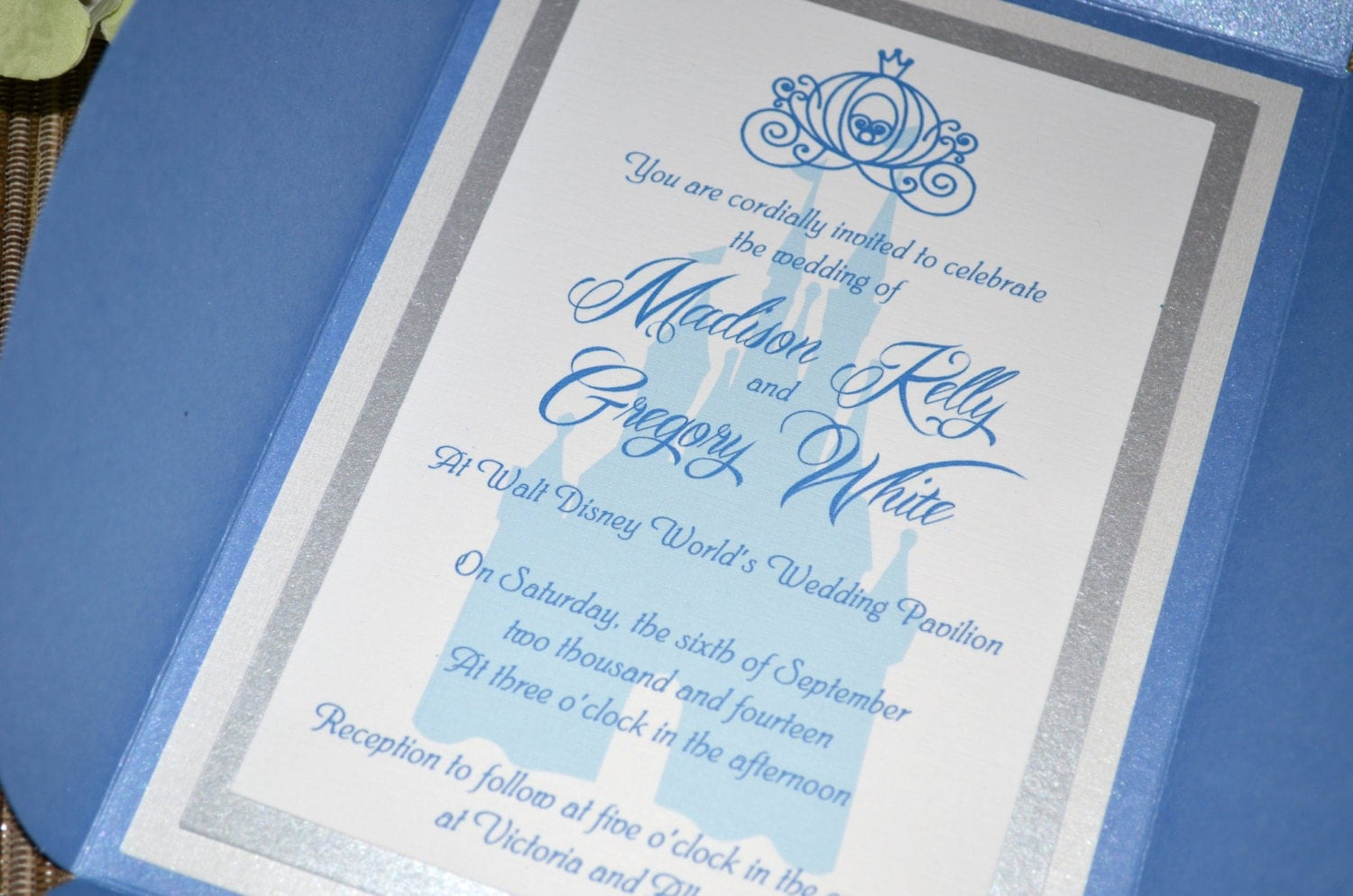 Fairy Tale Wedding Invitations Cinderella Petal Fold