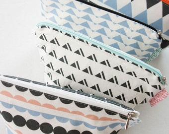 Scandinavian Nordic Swedish Vintage Simple Pattern Fabric Cotton 100% Panel, 4 Design fabric Package AA05