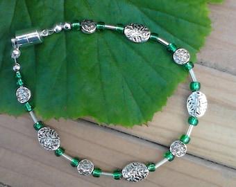 Bracelet beaded Irish Fields  beads beaded bracelet fashion bracelet woman's bracelet