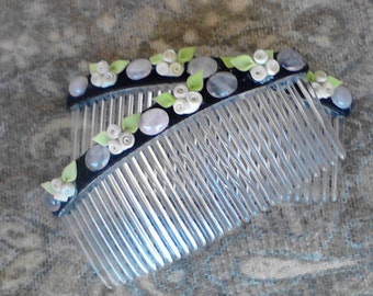 womens accessories Hair combs White Lily  hair combs Hair accessories fashion combs