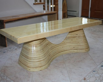 Birch plywood bench