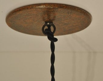 Rust Patina 5 inch Ceiling Canopy Handmade Unique Vintage Rustic Industrial