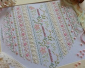 14 Count Cross Stitch Kits ;Victorian Heart (Pastel Pinks) ; A sampler with a Twist! Beautiful Kits By Maggie Gee Needlework Studio
