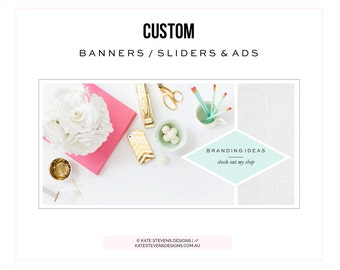Custom Banners / Sliders & Ads