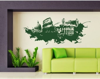 Rome skyline 1 of 1 wall decal sticker mural vinyl wall for Wall stickers roma