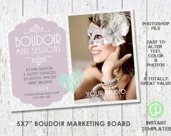 Boudoir Marketing Board Mini Sessions Photoshop Template - M1B001