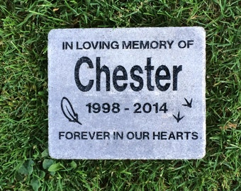 "7"" X 8""  Memorial Bird Grave Marker, Cambridge Pavingstone (Add your own personal engravings for free)"