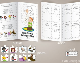I Can Pray to Heavenly Father - File Folder Game (LDS PRIMARY - Sunbeams - Lesson 4) - Downloadable PDF