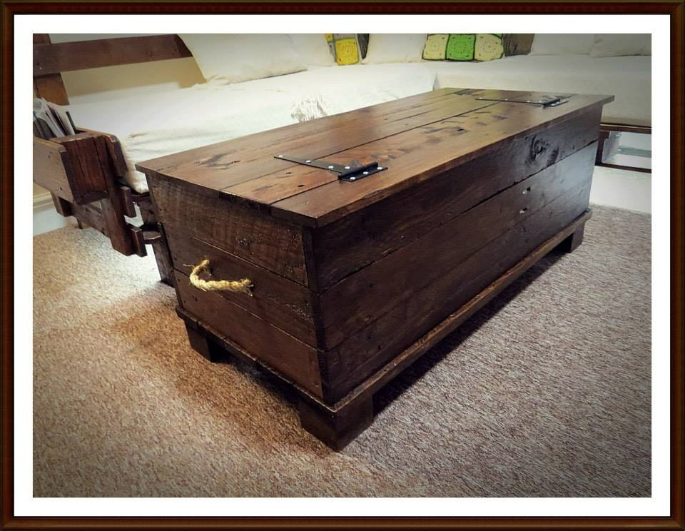 Large trunk chest handmade using pallet wood
