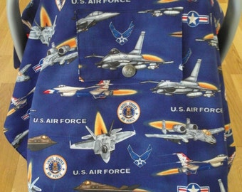 United States Airforce Baby Car Seat Cover Canopy