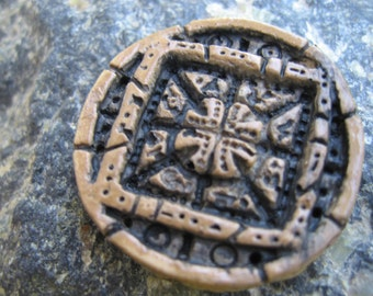 hand made good luck talisman, original design talisman pin, good luck pin, magical pin, protect against evil pin, good luck charm, safe pin