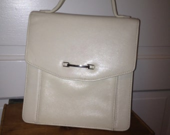 White Leather Vintage Purse