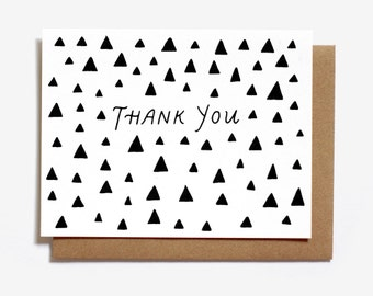 Thank You Triangles Screen Printed Note Card