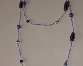 purple necklace - made in France