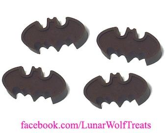 4 Solid Chocolate Batman Logos
