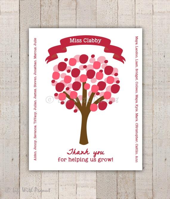 Thanks For Helping Me Grow Quotes: Items Similar To Teacher Gift, Teacher Art Print