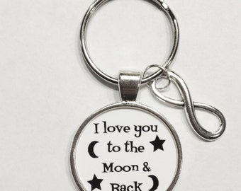 Infinity I Love You To The Moon & Back Keychain