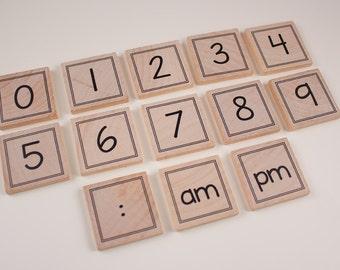 Telling Time magnet set