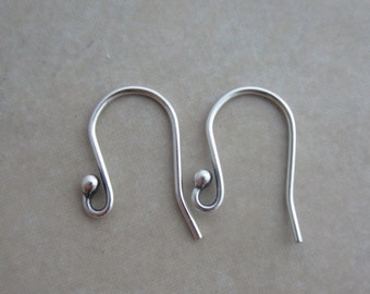 10 heavyweight oxidized sterling silver ear wires