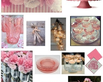Party decorating decorating services the e deisgn package includes a mood board and shopping list Interior design welcome packet