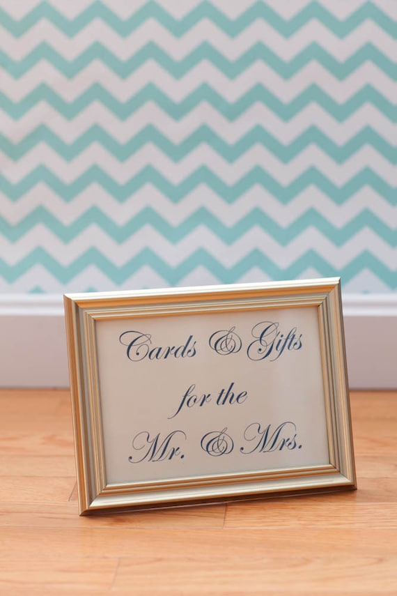 Wedding Gift Table Sign Wording : Cards and Gifts Table Sign - Wedding Gift Table Frame