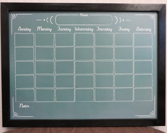 whiteboard calendar custom green chalkboard style calendar dry erase board solid wood frame changeable graphic