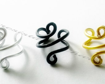 Gold, black or silver spiral ear cuffs........flexible