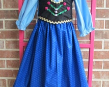 ANNA Frozen costume skirt, corset, blouse, cape and hat