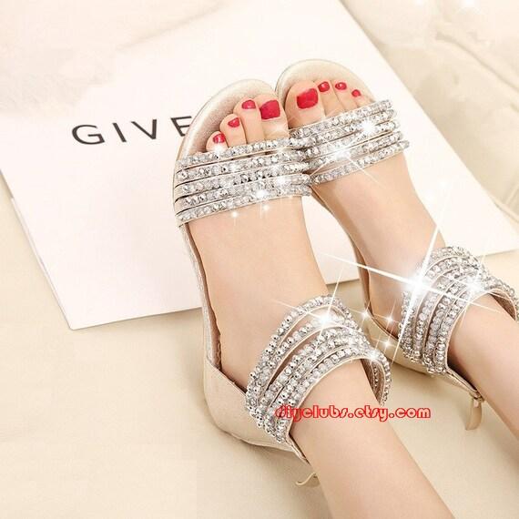Sexy Rhinestone Shoes Rhinestone Heels Cheap Sparkly