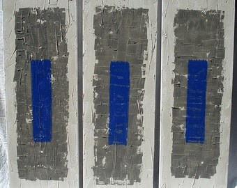 "canvas triptych coated ""city"""