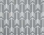"""ARROWS Cool Grey Gray or Choice of color Premier Prints Fabric 54"""" wide Fabric by the yard cotton decorator fabric FAST SHIPPING"""