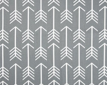 "ARROWS Cool Grey Gray or Choice of color Premier Prints Fabric 54"" wide Fabric by the yard cotton decorator fabric FAST SHIPPING"