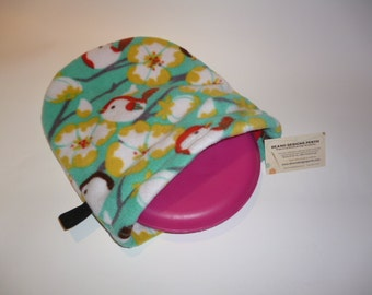 HEAT PAD POUCH for Snugglesafe Heat Pad.  Simply heat the stone as per the directions, then slip it into this soft fleecy cover.