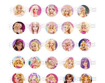 Barbie Bottle Cap Images, 30 digital images