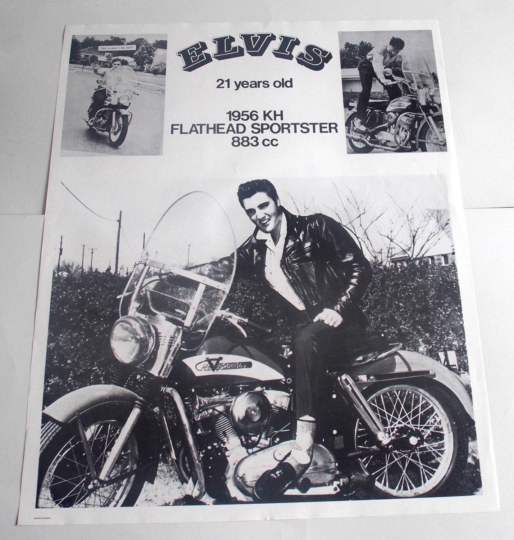 ELVIS PRESLEY Bike Collage POSTER Rare And Vintage