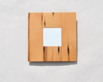 Recycled cedar shingle mirror