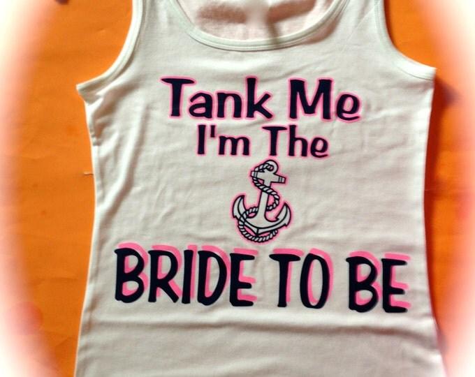 5 Nautical Bachelorette Tank Tops. Bridesmaid Shirt. Wedding Party Shirts. Bridesmaid Anchor shirts. Fun BAchelorette Shirts. Girl's weekend