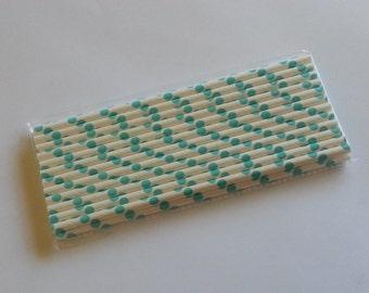 Teal Paper Straws (25pcs)