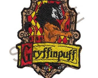 Gryffinpuff Cross-House Crest Patch