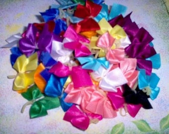Dog Grooming Bows 50 small Solid Dog Bows