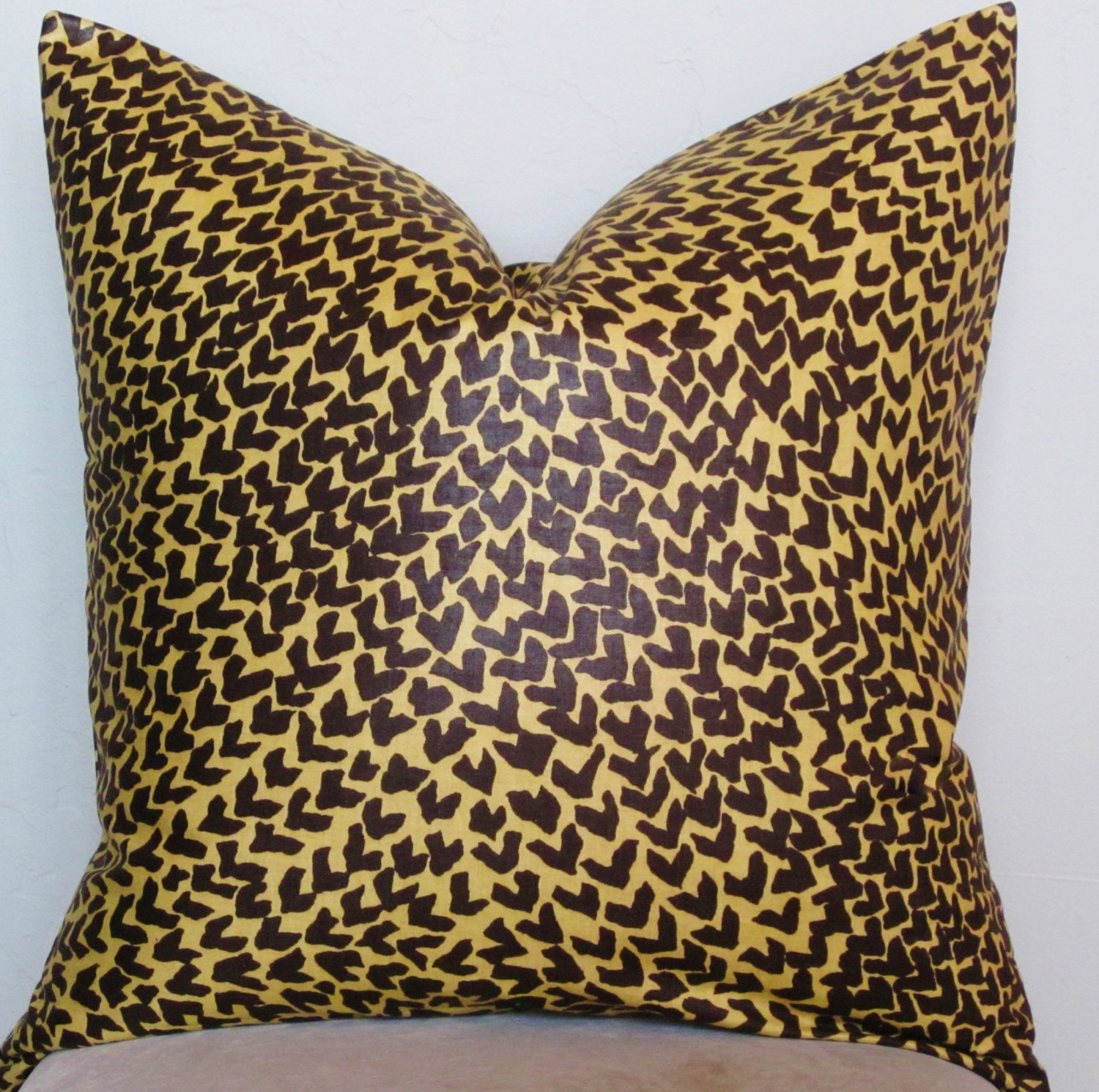 Pillow Cover-Animal Print Brown and Gold by SewWhatAlley on Etsy