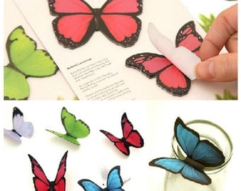 Cute Butterfly Sticky Notes Stick Marker Memo Pad