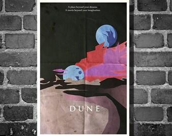 Dune poster movie art minimalist poster geekery art print sci fi print sandworms giclee home decor wall art