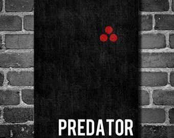 Predator poster movie art minimalist poster geekery art print sci fi print alien